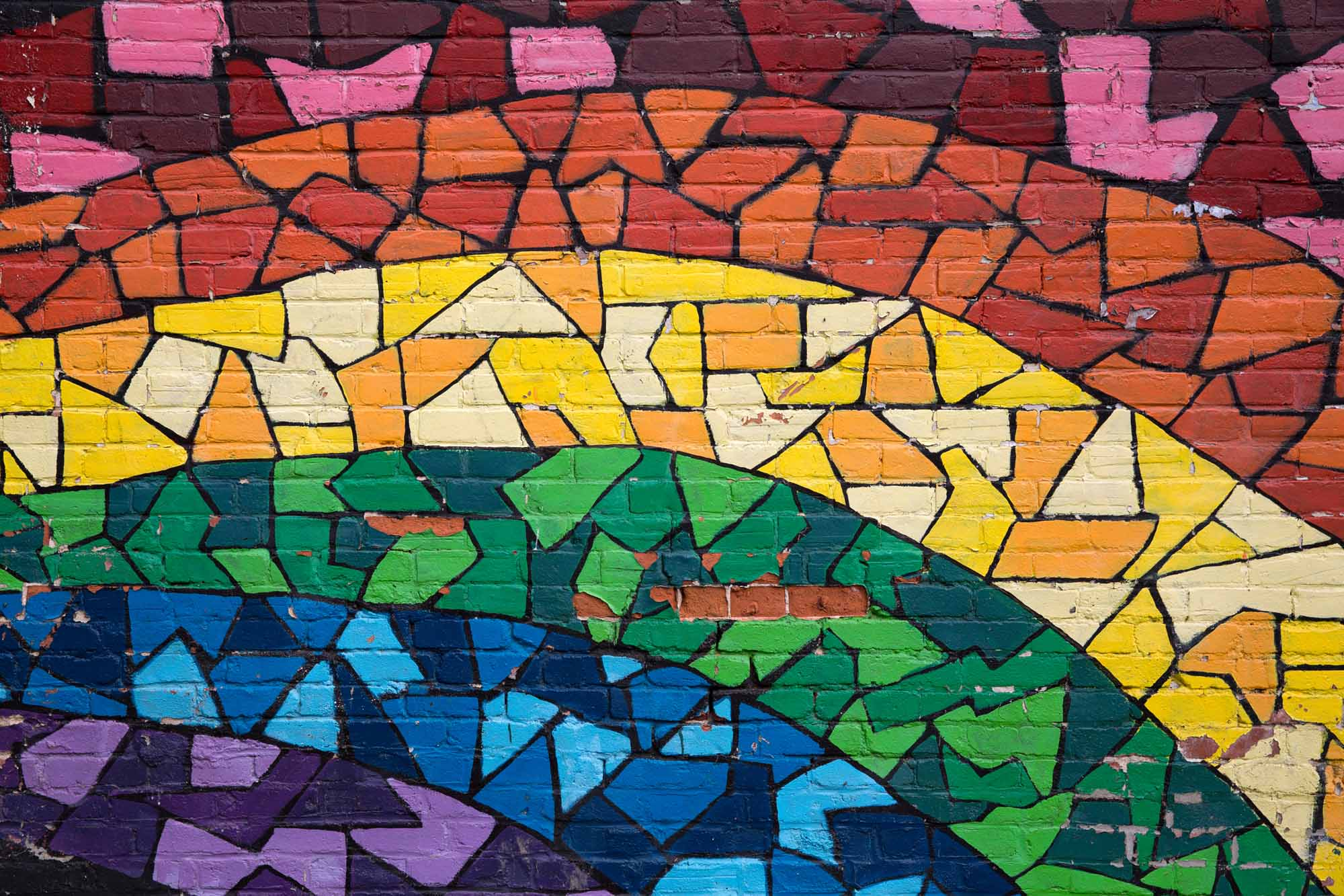 Rainbow graffiti Montreal