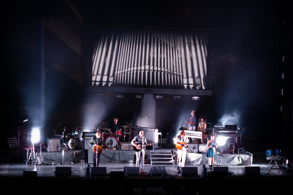 Arcade Fire performing in Berkley, CA. in 2010.