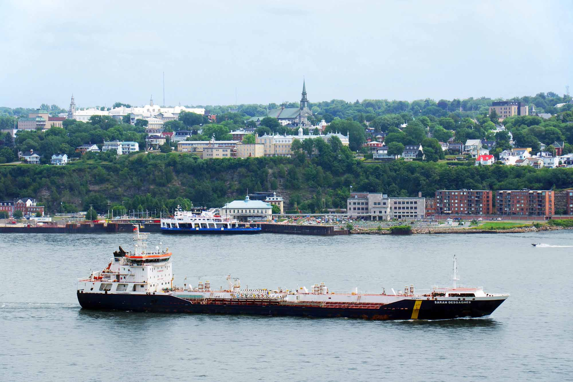 Oil tanker on the St Lawrence