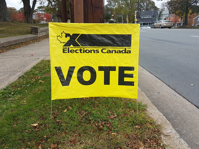 Elections Canada sign, 2019 Canadian Federal election