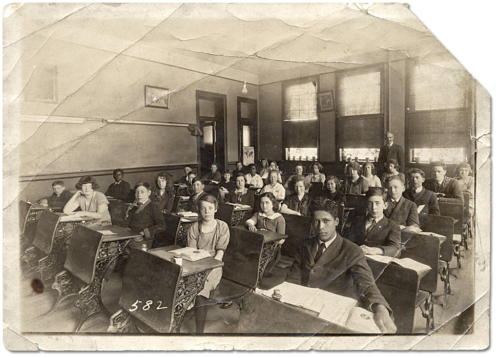 Students in the classroom, ca. 1910-1920.