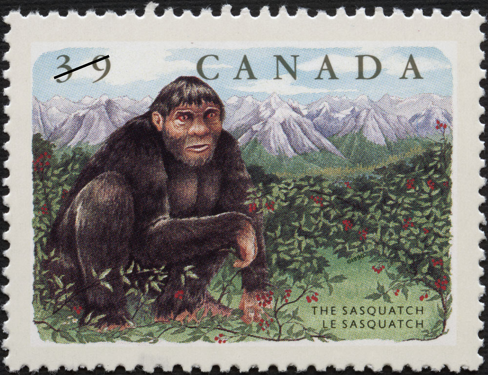 The Sasquatch postage stamp, Canada