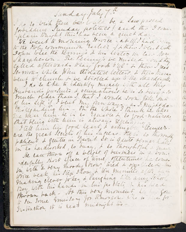 Journal de Lady Macdonald, 5-6 juillet 1867