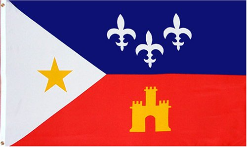 Flag of Acadiana (Louisiana Acadian Flag)