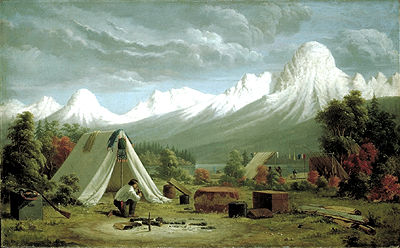 Boat Encampment, Painting
