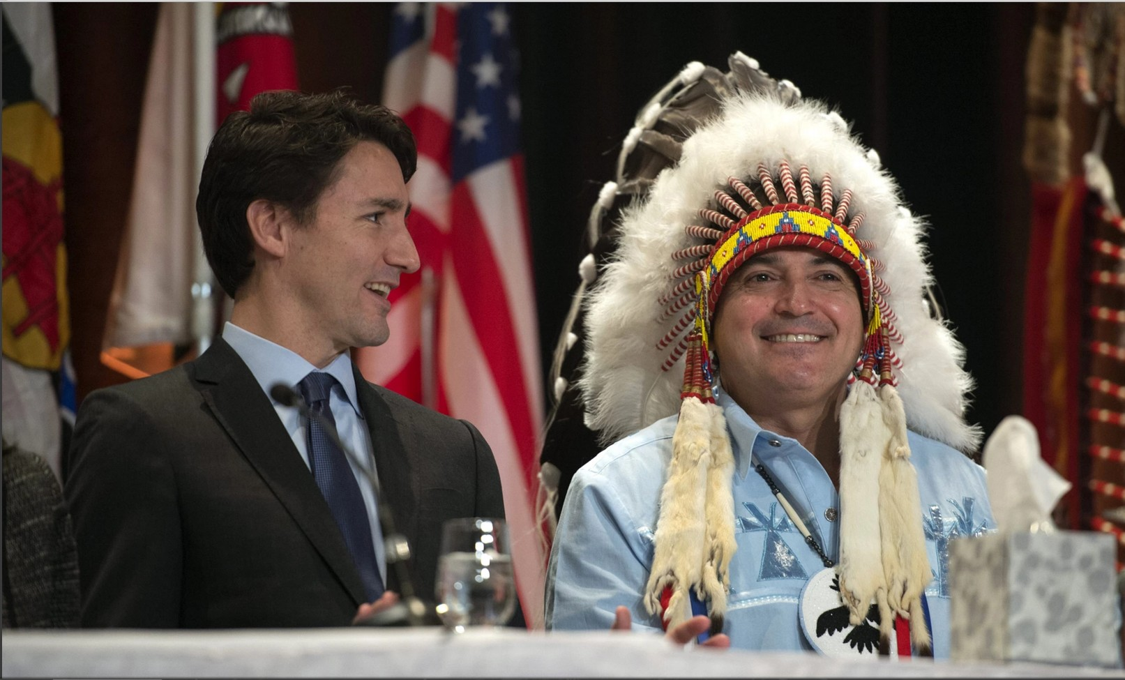 Justin Trudeau and Perry Bellegarde