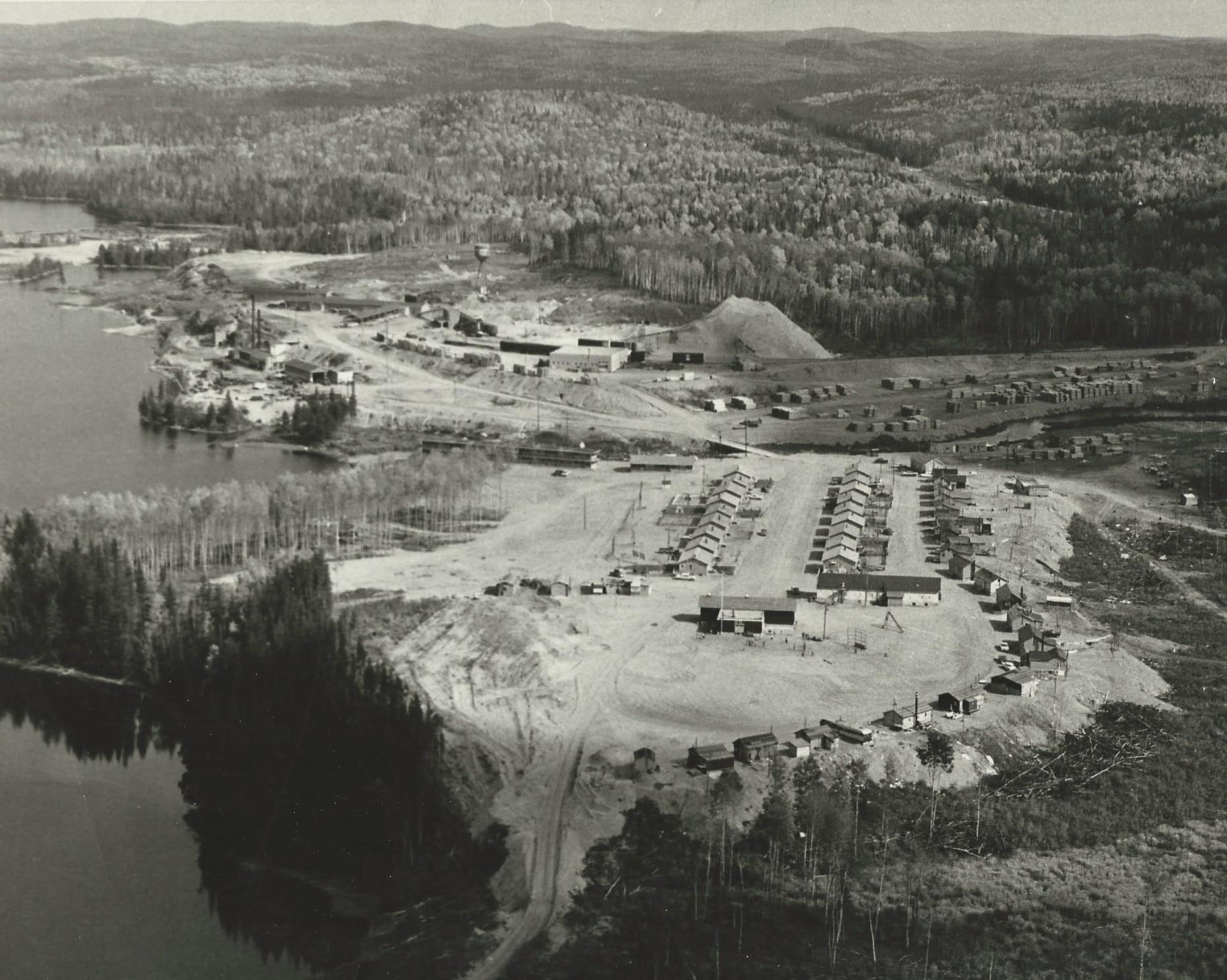 Aerial view of Dubreuilville in 1963