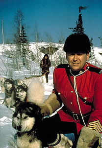 Mountie with Dog