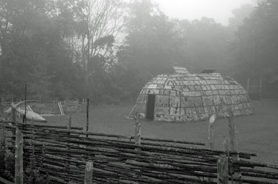 Lawson Longhouse in the Fog