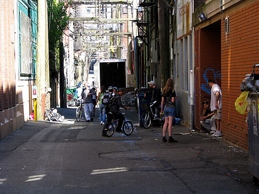 An alley in Vancouver's Downtown Eastside.