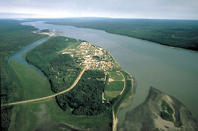 Fort Simpson, Aerial View