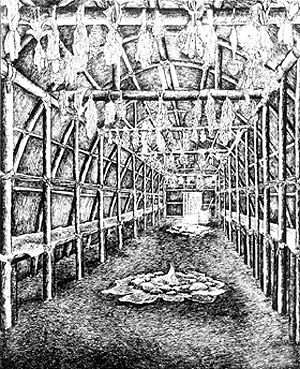 Interior of Reconstructed Longhouse