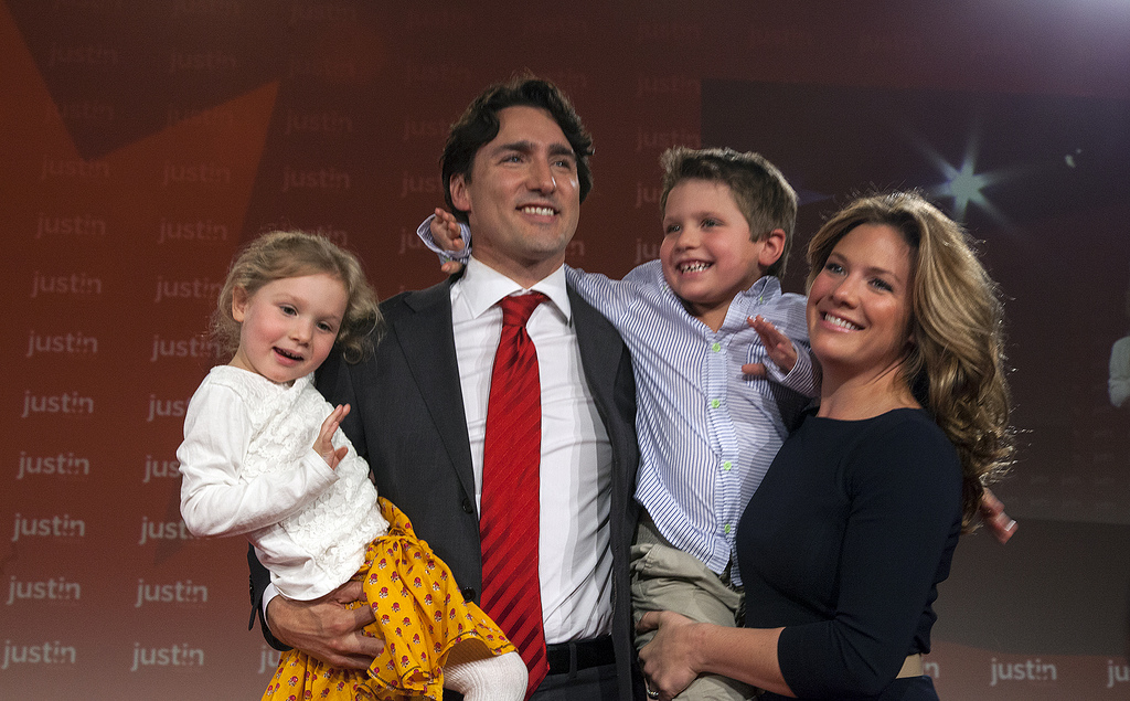 Justin Trudeau and family (2013)