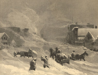 Blizzard à Winnipeg, 1882