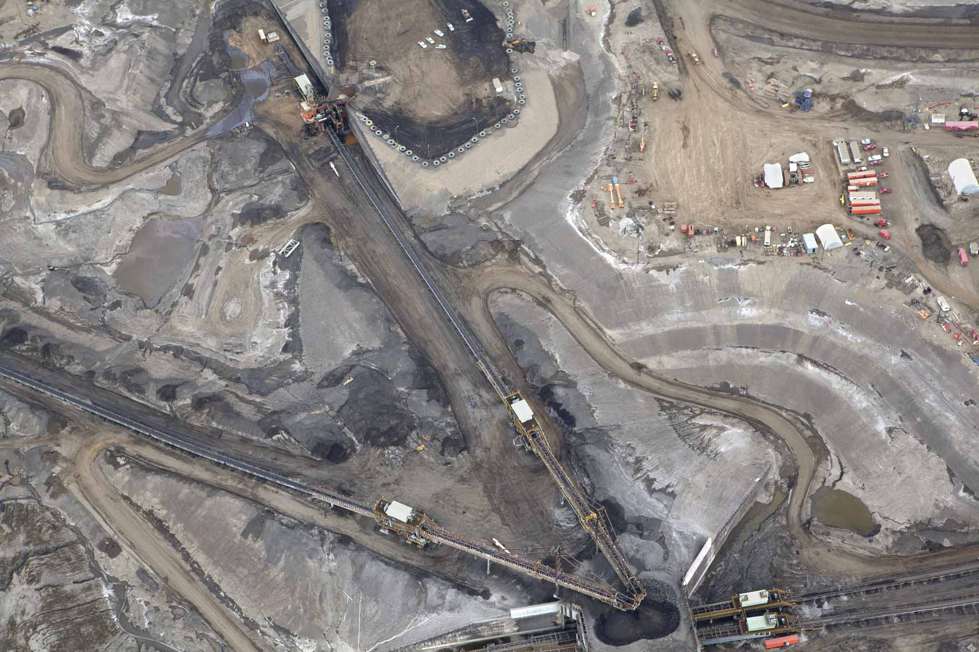 Ariel view of oil sands, Alberta