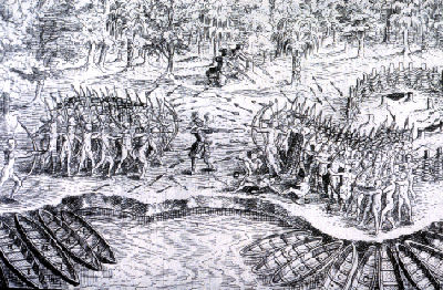 Defeat of the Iroquois at Lac Champlain