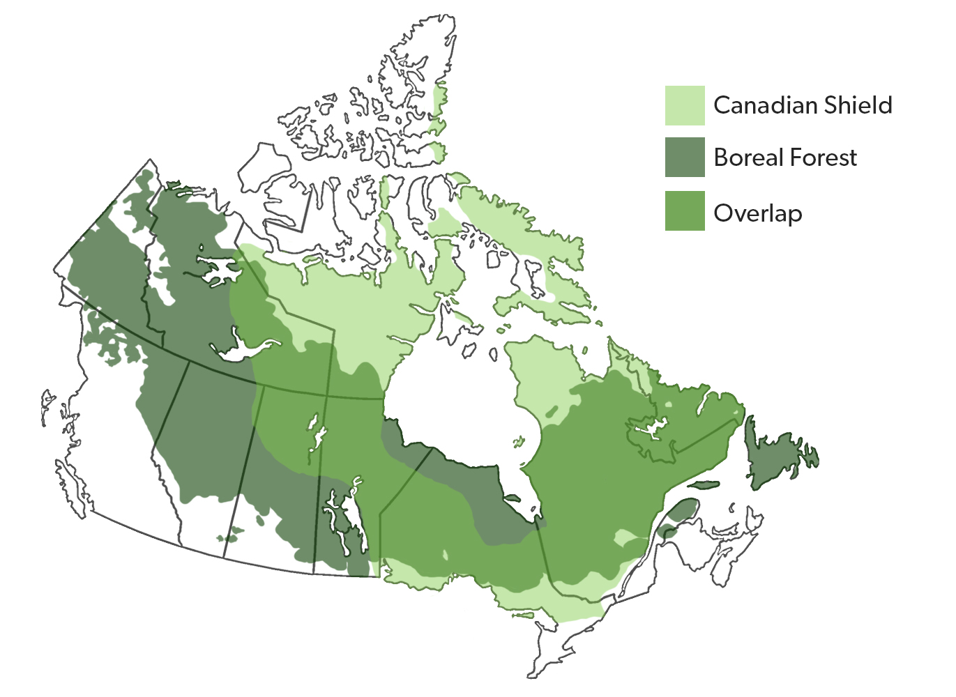 Canadian Shield The Canadian Encyclopedia - Physical characteristics of canada