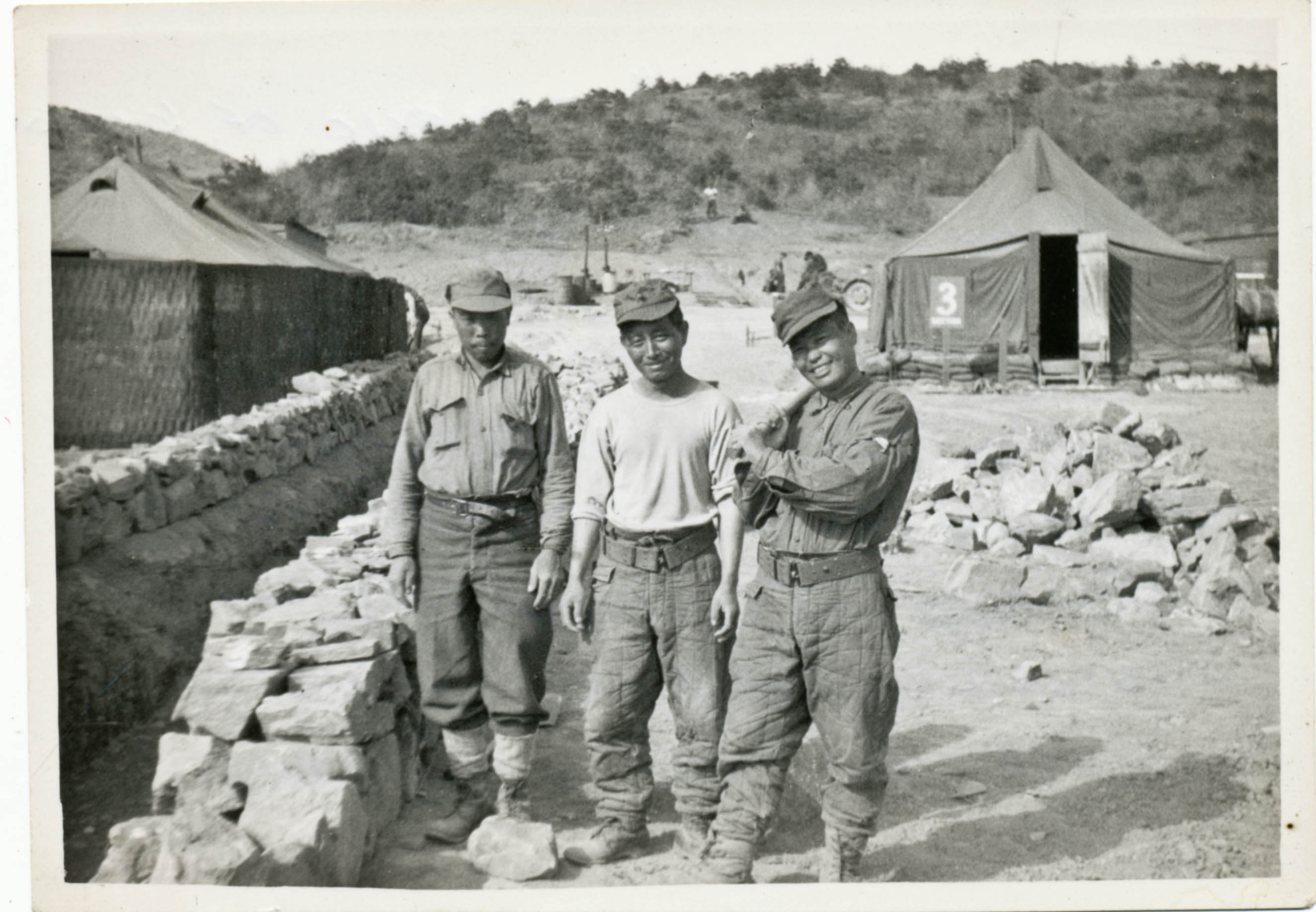 Members of the Korean Service Corps, August 1953.