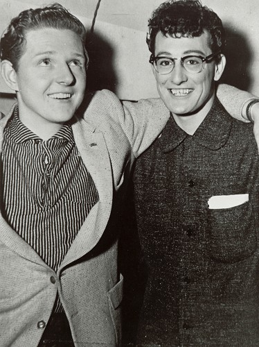 Red Robinson and Buddy Holly.