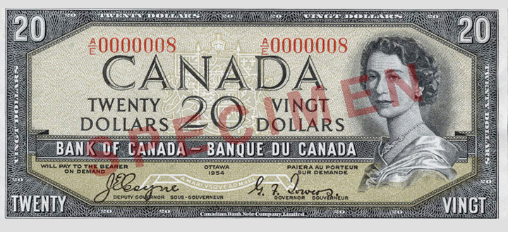 Front of the  Note (1954\u201369)