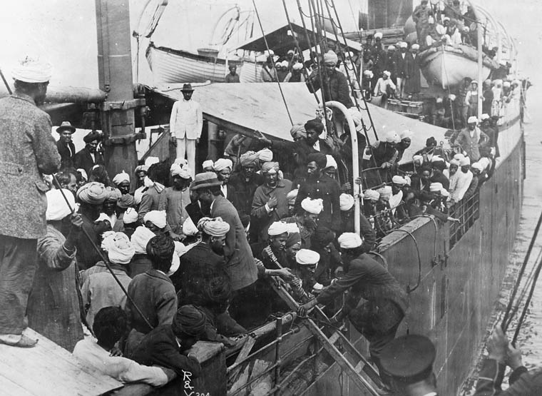Passengers on the SS Komagata Maru, 1914.
