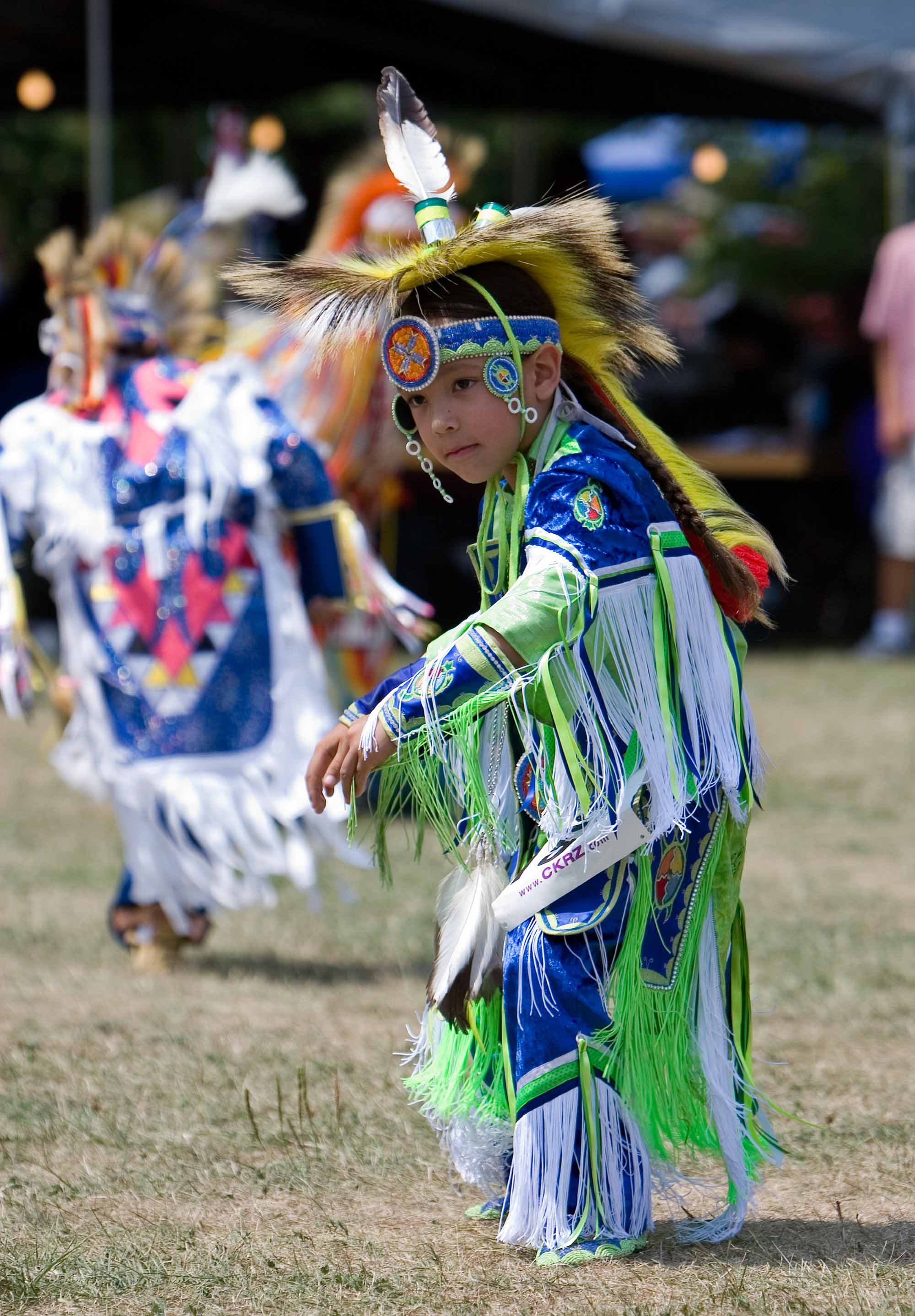Young Powwow Grass Dancer