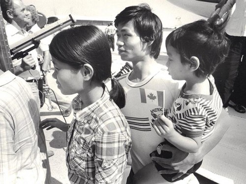 Reception of Southeast Asian refugees at CFB Griesbach, August 1979