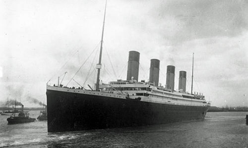 The RMS <i>Titanic</i> Departs