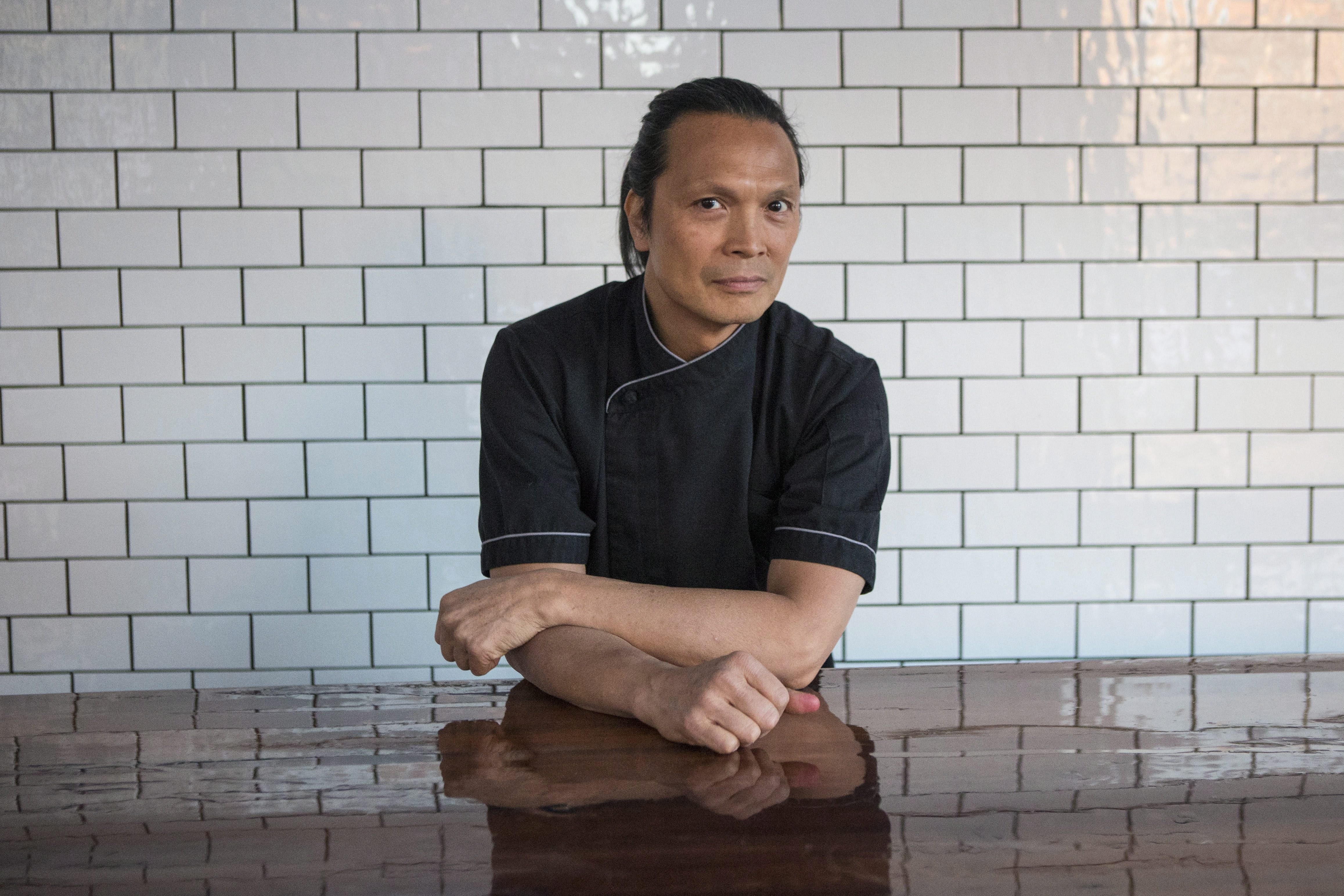 Chef Susur Lee at Bent restaurant in Toronto, 2013.