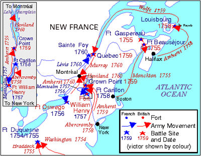 Seven Years' War. (map)
