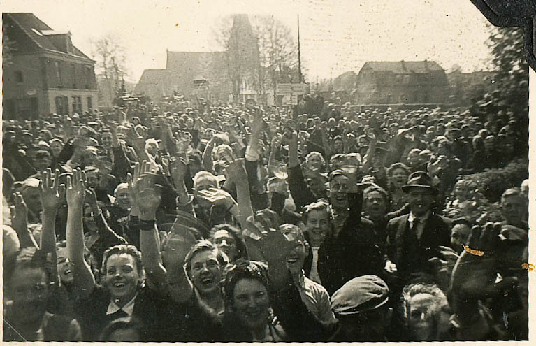 "The people of Ermelo, Netherlands liberated by ""B"" Squadron of the Strathcona's on April 17th 1945."