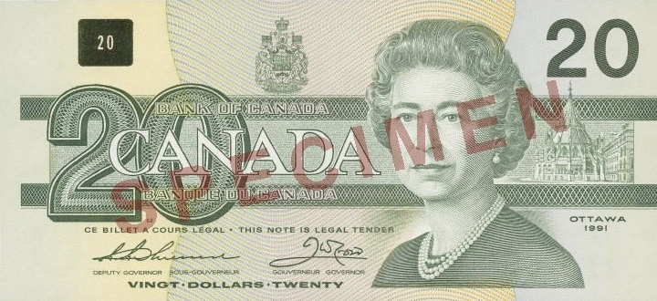 Front of the  Note (1986\u20132001)
