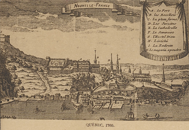 Quebec City, ca. 1700