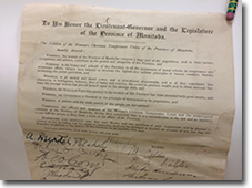 1893 Petition by Woman's Christian Temperance Union