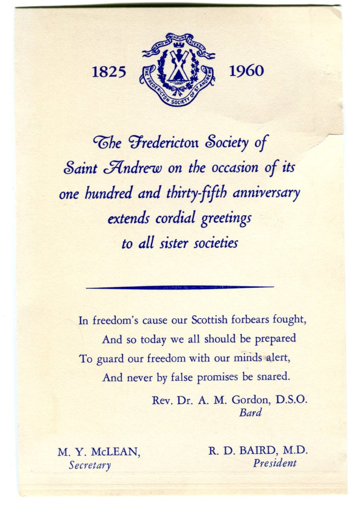 Fredericton Society of Saint Andrew