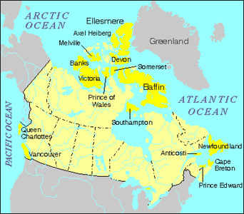 Map Of Islands In Canada Banks Island | The Canadian Encyclopedia