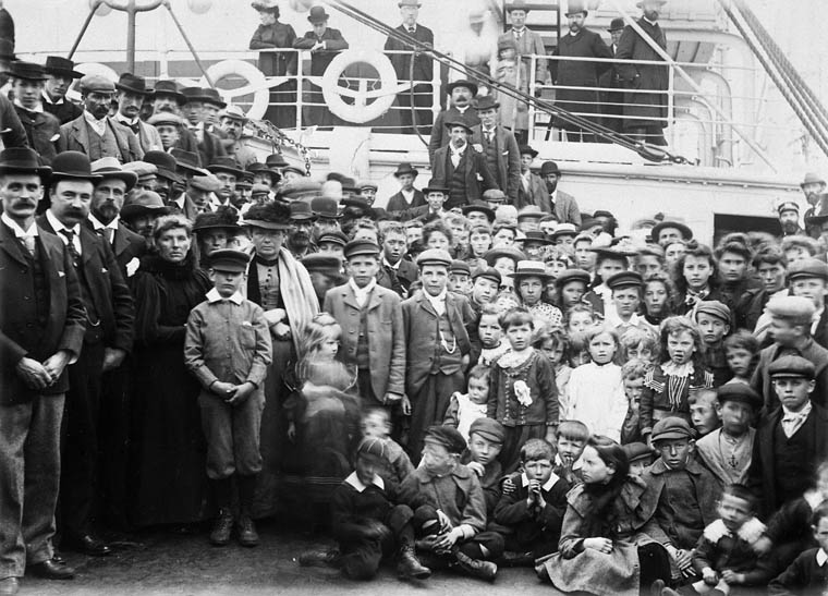 Welsh Patagonians leaving England for Canada on the SS Numidian of the Allan Line, June 12, 1902