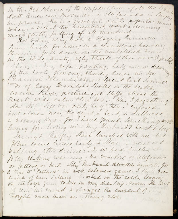 Journal de Lady Macdonald, 6 juillet 1867