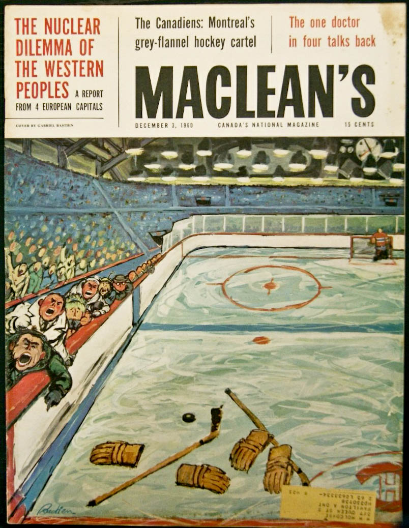 Maclean's cover, Dec. 6th, 1960.