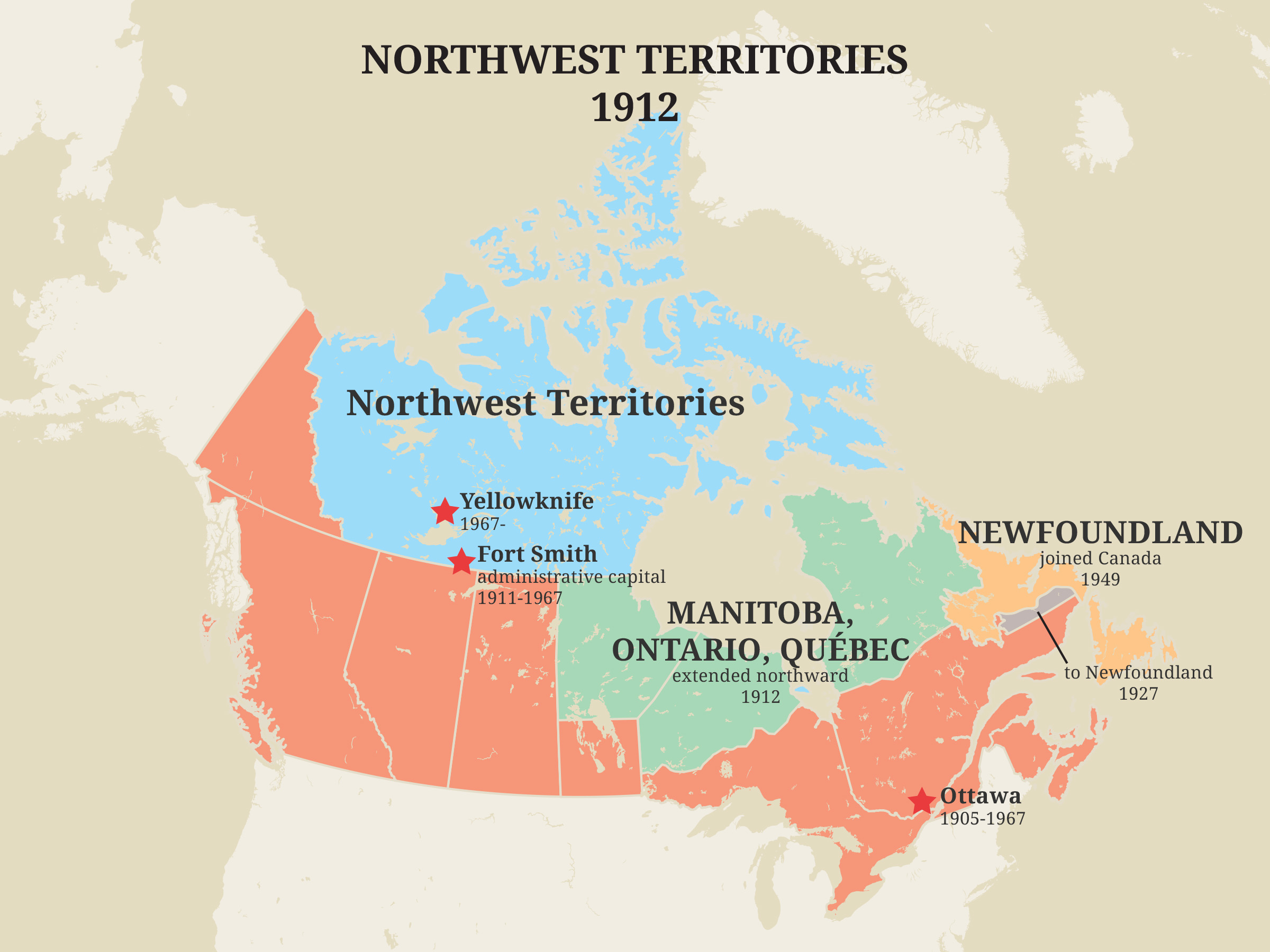 Northwest Territories, 1912