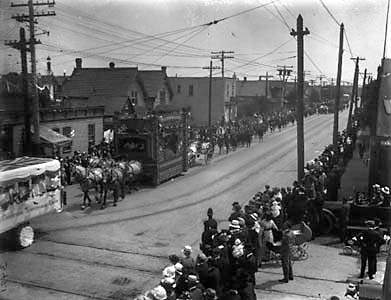 WCTU Float in Winnipeg Parade, 1910
