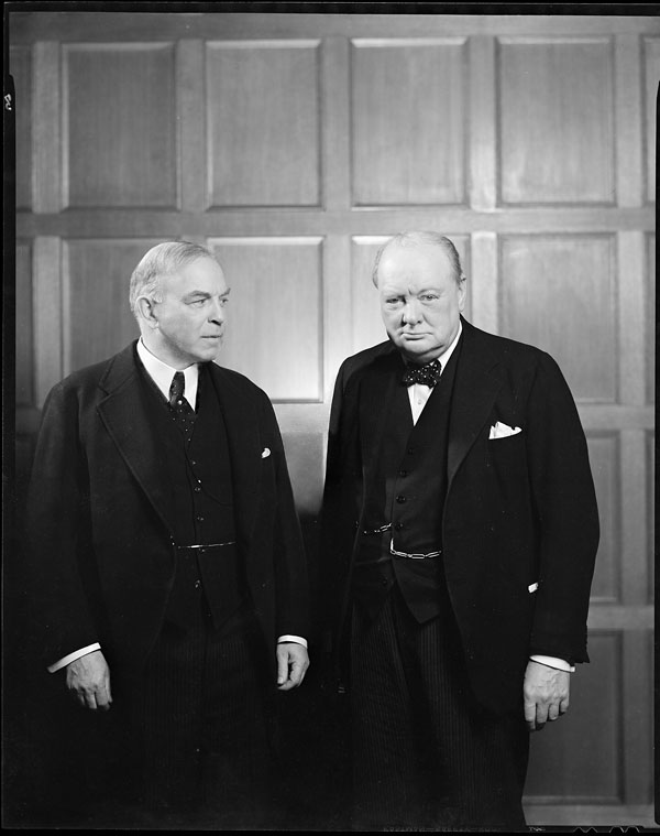 Canadian Prime Minister William Lyon Mackenzie King with British Prime Minister Winston Churchill, 1941