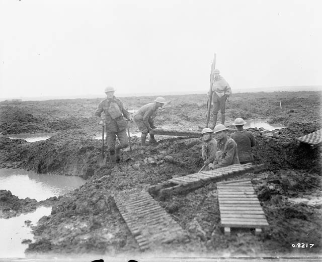Laying mats at Battle of Passchendaele
