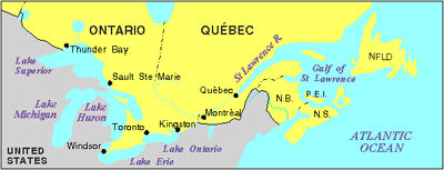 st lawrence seaway map