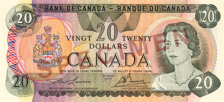 Front of the  Note (1969\u201379)