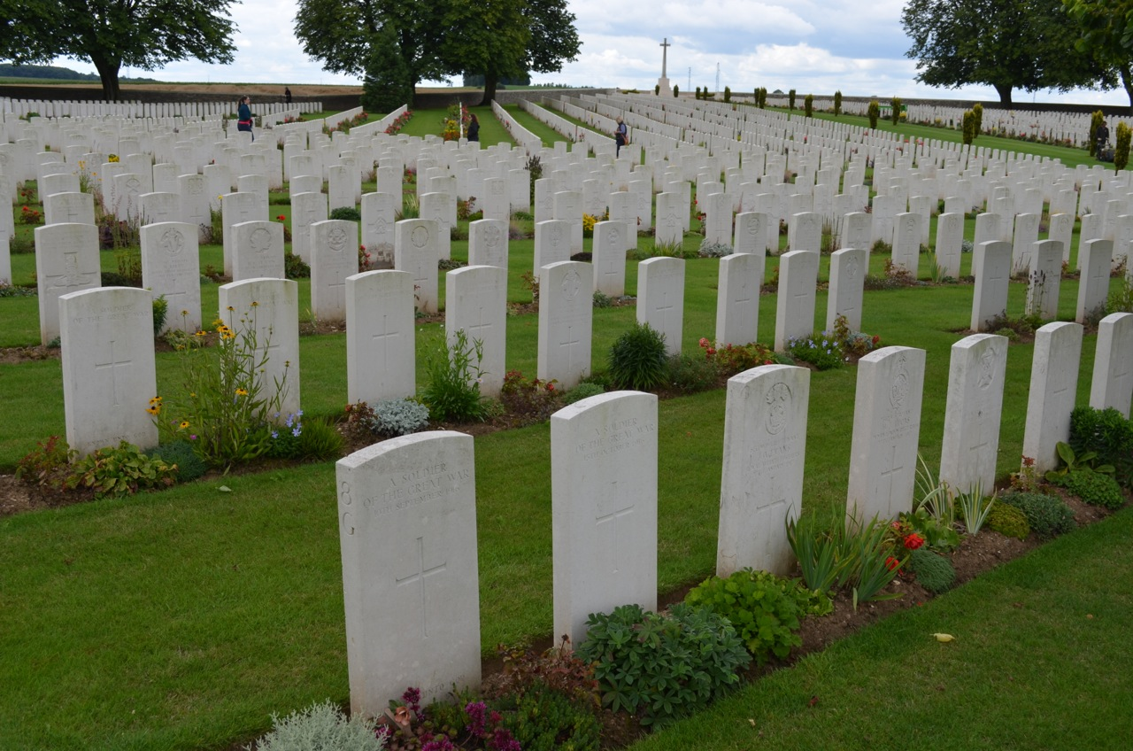 Cabaret-Rouge war cemetery in France.
