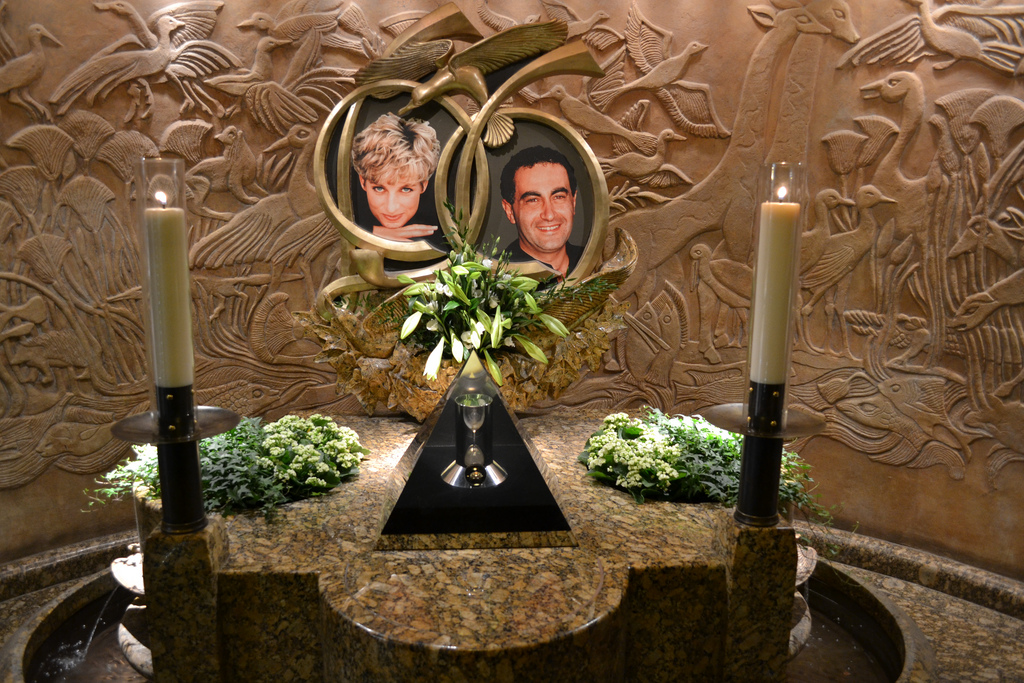 Memorial to Diana, Princess of Wales, and Dodi Al-Fayed at Harrods