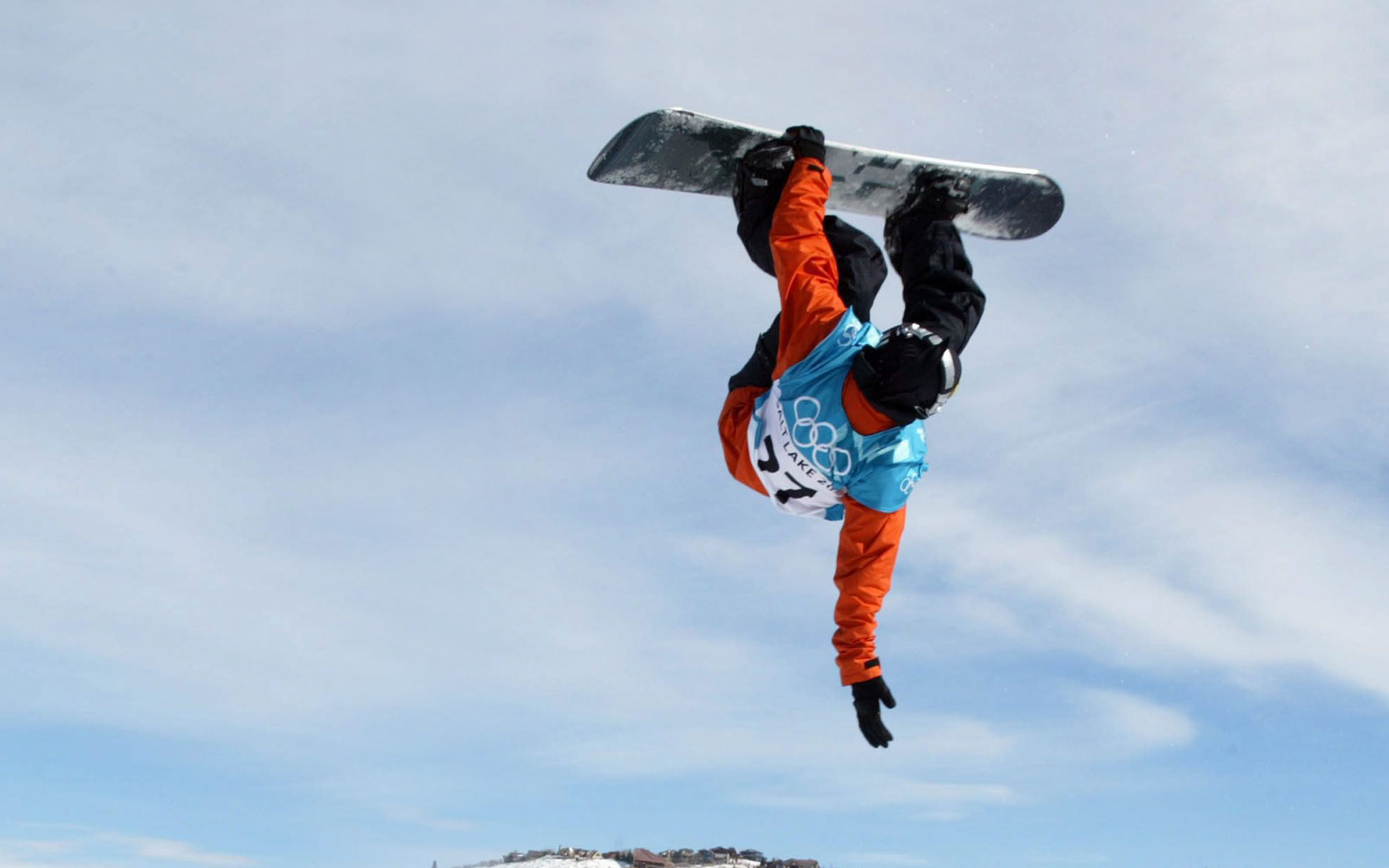 Trevor Andrew from Nova Scotia on the half-pipe.