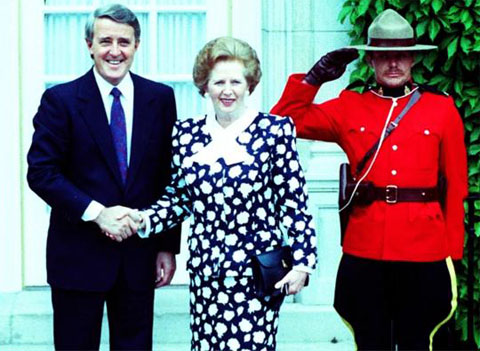 Brian Mulroney with Margaret Thatcher