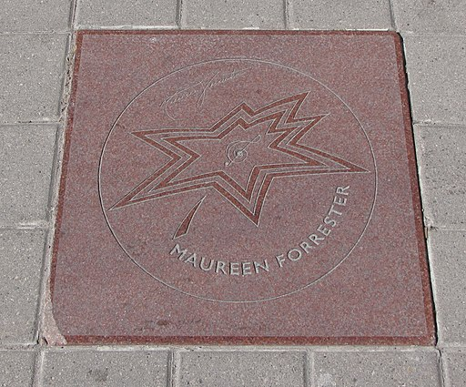 Maureen Forrester, Canada's Walk of Fame